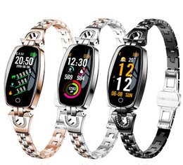 H8 Smart Watch Australia - H8 Fitness Bracelet Women Sport Smart Watch 2019 Waterproof Heart Rate Monitoring Bluetooth on the For iOS Android Wristband