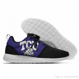 Frogs Shoes Australia - NCAA TCU Horned Frogs Male Shoes Outdoor Walking Sneakers Trendy, lightweight, breathable shoes.