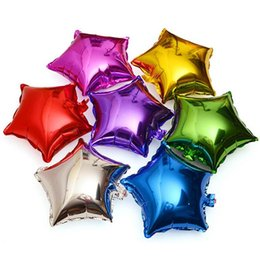 Discount foil balloons gold star - 2020 18 inch The Stars Foil Balloons with Gold and Silver for Birthday Decoration Wedding Party Classical Toy h312