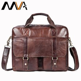 business briefcases men NZ - Mva Business Briefcases Bag Genuine Leather Men Bags For Document Leather Laptop Bag Office Bags For Men Briefcases Totes 7804 Y19051802