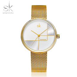 milan bracelet NZ - 2019 NEW SEHNGKE Gold Watch Women Watches Milan Mesh Steel Women's Bracelet Watches Female Clock Relogio Feminino Montre Femme