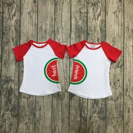 Best Clothing Australia - new arrivals summer white best friend watermelon girls baby kids wear children clothes short sleeve t-shirt top cotton