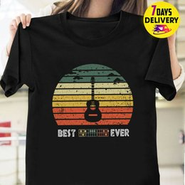 black s guitar Australia - Guitar Best Dad Ever Vintage T Shirt Black Size S-5Xl 2019 Unisex Tees
