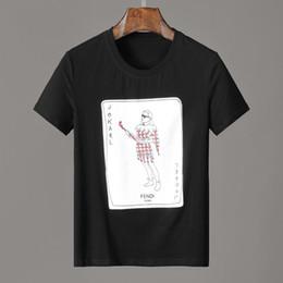 Men Playing Cards Australia - 19ss JoKarl Print playing cards FF roma T-SHIRT Men shirts mens women Short Sleeved T-shirt Tops shorts Tee F931 clothing