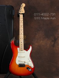 Wholesale New Top quality FDST-1105 CS color solid Ash body maple neck 22 frets chrome hardware Elite ST electric guitar, Free shipping