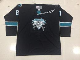Опт Настройка Metallica San Jose Sharks Джеймс Хетфилд хоккей Джерси вышивка сшитые настроить любое число и имя