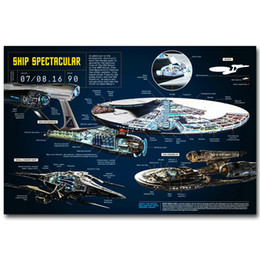 $enCountryForm.capitalKeyWord NZ - U.S.S. Enterprise Blueprint Star Trek Beyond Movie Art Silk Poster 24x36inch 24x43inch 0548