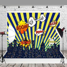 $enCountryForm.capitalKeyWord NZ - HUAYI Backdrop Decorations for Birthday Party Yellow and Blue Stripes of Color at Night Photo Booth Props W-284