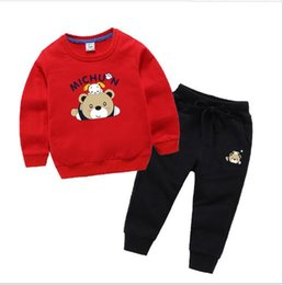 best hair for men Australia - New best-selling children's clothing and bodywear set wholesale spring cotton two-piece set for men and women one hair generation children's