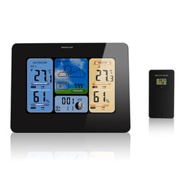 $enCountryForm.capitalKeyWord NZ - Weather Station Digital LED Clock Wireless Calendar Temperature Humidity Sensor Barometer Forecast Desk Table LED Alarm Clock