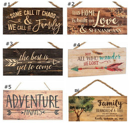 Cartoon feet online shopping - Rectangle Wooden Hanging Pendant friend family Wall Door Friendship Ornament DIY New Year Party Christmas Decorations MMA2783