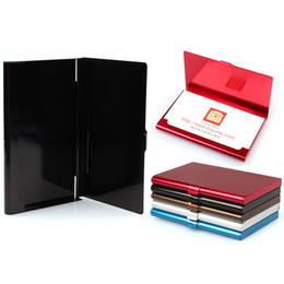 $enCountryForm.capitalKeyWord Australia - New Arrival Waterproof Stainless Steel Case Pocket Box Commercial Business Id Credit Card Holder Cover Birthaday Gifts