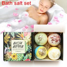 Bath Body oils online shopping - 4pcs Bath Salt Bomb Ball Essential Oil Natural Bubble Whitening Moisturize Relaxation Gift Body Skin Care Beauty Bath Salt Set