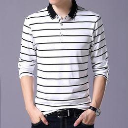 $enCountryForm.capitalKeyWord Australia - Striped Polo Shirt Men 2019 Spring 95% Cotton Men's Polo Shirt Male Long Sleeve Casual Shirt Mens Turn Down Collar Polos 3xl