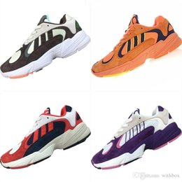Cotton Fabric Dragons Australia - 2019 Yung 700 Leather and Mesh Breathable Casual Sneakers Originals Dragon Ball x Yung 700 EVA Cushioning Casual Shoes
