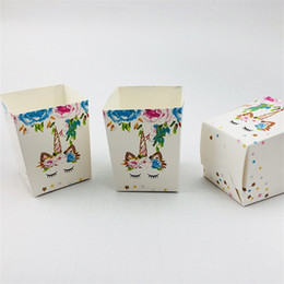 Sugar pulp online shopping - Paper Quality Sugar Case Unicorn Pattern Candy Boxes Colorful Christmas Wedding Wrap Small Snacks Box Hot Selling jw L1