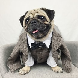 pets clothing Australia - Dog Clothes Wedding Pet Dog Suit Formal Pets Dogs Clothing For Dogs Costume Pets Supplies Pet Apparel Puppy Outfit Bulldog Pug Wholesale
