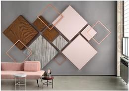 $enCountryForm.capitalKeyWord Australia - WDBH 3d wallpaper custom photo Geometric wood grain modern TV background wall home decor living Room 3d wall murals wallpaper for walls 3 d