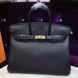 $enCountryForm.capitalKeyWord NZ - 20WAR0874 Fantastic big size 40cm genuine Leather Luxury Fashion Handbags Women bag Runway For Female Ladies Europe top Brand