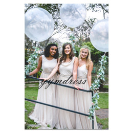 26a4e92c038 2019 Bridesmaid Dresses V Neck Chiffon Long Maid Of Honor Dress Cheap  Custom Made Plus Size Hot Sale Formal Weddings Gowns