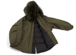 Wholesale Raccoon Fur Collars Australia - Lagre Raccoon Fur collars for Ladies Midi Long parkas 90% White duck down warm in Sweden Norway Canada