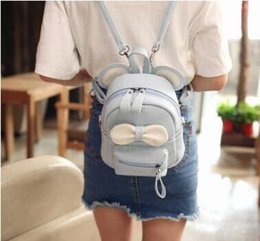 Cross Bags Australia - mini cartoon backpack dual-use small diagonal cross bag PU leather fashion girl small cute bow female backpack
