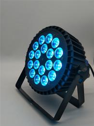 Großhandel 4 stücke / Hot 18x18 watt led Par Licht RGBWA + UV 6in1 Aluminiumlegierung Durable Shell LED Panel Licht DMX512 Control Disco DJ Party Bühnenlicht