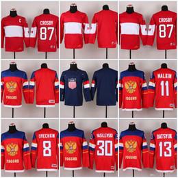 Crosby winter jersey online shopping - Mens Womens Youth Winter Olympics National Team Sidney Crosby Evgeni Malkin Alex Ovechkin Pavel Datsyuk Ice Hockey Jersey