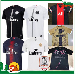 dca57b05 18 19 PSG MBAPPE home shirt T SILVA CAVANI DI MARIA PASTORE 2018 2019 Paris  man woman Verratti Matuidi buffon seasons custom sports jersey