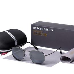 $enCountryForm.capitalKeyWord NZ - Barcur New Glass Lens Reflective Sunglasses Women Sun Glasses Men Stainless Steel Frame Eyewear Mirror Hexagon Oculos De Sol Y19052004
