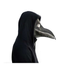 Чума врачи Маска искусственная кожа ясно смолы линзы клюв маски для лица Хэллоуин стимпанк костюм партии Карибские маски
