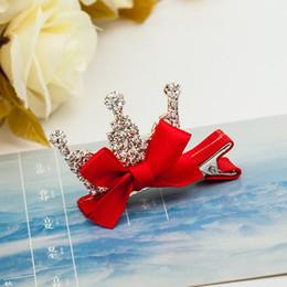 $enCountryForm.capitalKeyWord Australia - 1pc Baby Girls Children Crown Rhinestone Princess Hairpins Rabbit Ears Crystal Hair Clip Hair Accessories Hot Sale