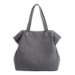 large handbags compartments 2019 - Canvas Soft Material Women's Elegant High Quality Distinguished Shopping Bag Handbag Exquisite Handbag Large Capaci