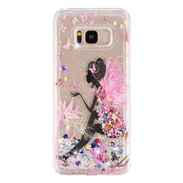 tpu clear cover case 2019 - For Iphone XR XS MAX X 8 7 6 SE 5S Bling Liquid Quicksand Soft TPU Case Sparkle Fairy Butterfly Dog Owl Luxury Fashion G