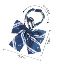 japanese gift set NZ - Fashion Man Woman Adult Necktie Gift Plaid Campus Style School Neck Sets Tie Japanese uniform bow men and women Bow tie newF3