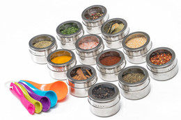 $enCountryForm.capitalKeyWord Australia - Clear Lid Magnetic Spice Jar With Stickers Stainless Steel Spice Tins Spice Storage Container Pepper Seasoning Sprays Tools Outdoor Tool
