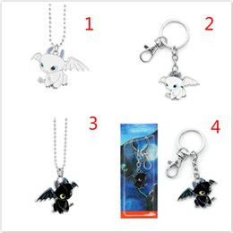 Necklaces Pendants Australia - 50pcs How to Train Your Dragon Toys Figures Keychain New Fashion Cute Toothless Necklace Pendant Keyring Kids Jewelry Party Favor