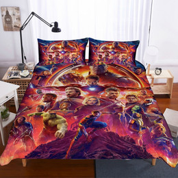 TexTile digiTal prinTing online shopping - Home Textiles D Design Digital Printing Bedding Set Duvet Cover Pillowcase Bedclothes Dropshipping game Film Heroes