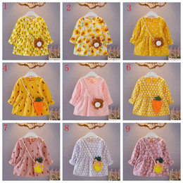 Years old babY girl dresses online shopping - Toddler kids year old girls suit baby long sleeve flower dresses with bag child boutiques