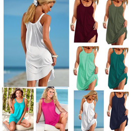 $enCountryForm.capitalKeyWord Australia - Summer Loose Dress 2019 New Women Casual Beach Dress Sling Party Dress Womens Clothes Hot Sale Plus Size S-XL C658