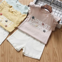 $enCountryForm.capitalKeyWord NZ - Girls Clothes Fashion kids Suits 2 pieces set stripe T shirt +short pants Girls Clothing 5 s l