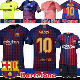 aa1015b58 10 Messi Barcelona Soccer Jersey 2019 Hombres Mujeres Niños kits 8 Iniesta  9 Suárez 26 MALCOM 11 Dembele 14 7 Coutinho Camisetas de uniformes de fútbol