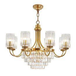 $enCountryForm.capitalKeyWord Australia - New luxury crystal pendant chandelier lamps living room bedroom pendant light European copper crystal pendant chandeliers lighting fixture