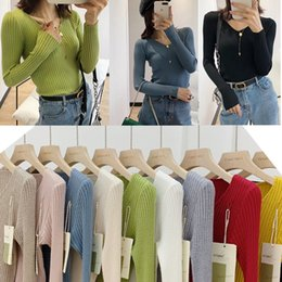 sexy hot figures girls NZ - Hot 10 Colors Women Girls Beautiful Sweater Pinkycolor Gentle Soft Elastic Knitted Blouses Shirts Sexy Fitting Figure-showing Casual Tops