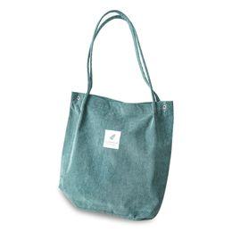$enCountryForm.capitalKeyWord Australia - 2019 New Fashion Casual High Capacity Women Corduroy Tote Ladies Shoulder Bag Foldable Reusable Shopping Beach Bag WML99