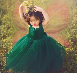 $enCountryForm.capitalKeyWord Australia - Charming Green Ball Gown Formal Wedding Party Dresses Tulle Flower Girl Dresses Children Tutu Dress CPX08