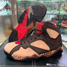 Wholesale 2019 New Authentic Patta x Air OG SP Shimmer S Retro Tough Red MAHOGANY MINK VELVET BROWN AT3375 Men Basketball Shoes With Box
