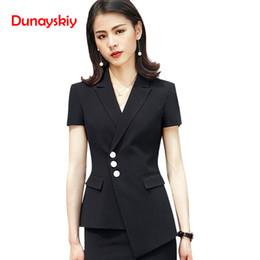 8f0b20b80 Trajes de falda de las mujeres Nueva Carrera Moda Blazer de manga larga  Elegante Tamaño Formal Delgado Oficina Señoras Ropa de trabajo Blanco Negro
