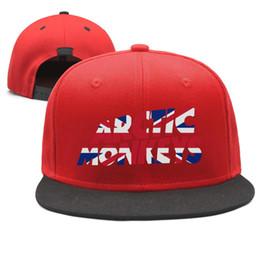Arctic-Monkeys-The-Indie-Rock-UK-flag Diseño Snapback Gorra de béisbol de Flatbrim Sombreros de papá de hip-hop Ajustable loco