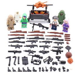 Military Figures Australia - 6pcs lot 6in1 Military Soldiers Army Field Building Blocks Bricks Figures Model Toys Children Gift Toys